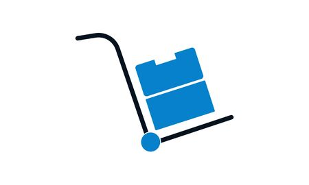 Delivery trolley icon design template. Vector EPS 10