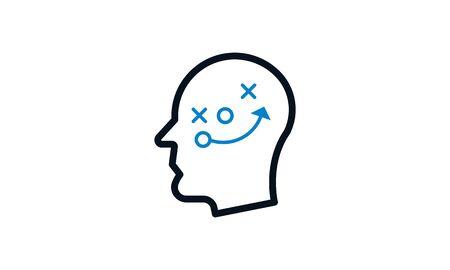 Strategic thinking icon concept vector illustration
