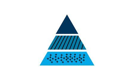 Pyramid Chart icon flat style vector illustration.