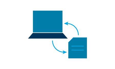 Data Transform icon flat. Illustration isolated vector sign symbol