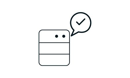 True data icon. Simple element illustration. True data concept symbol design. Can be used for web and mobile