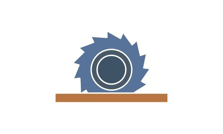 Circular Saw icon. High quality logo for web site design and mobile apps. Vector illustration on a white background.