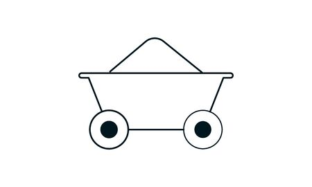 coal trolley icon vector illustration used for website.