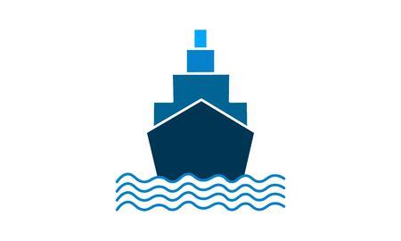 ship boat yacht transportation icon vector illustration logo template