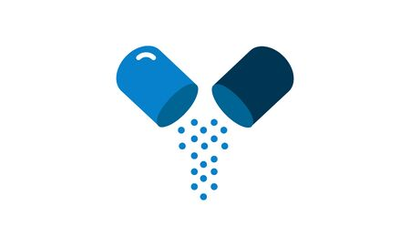Antibiotics icon medical concept flat style used for website and mobile apps. Illustration