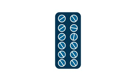 Pills icon flat. Illustration isolated vector sign symbol