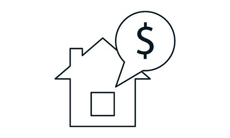 Home loan icon vector image 向量圖像
