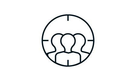 Target Audience icon vector illustration. Illustration