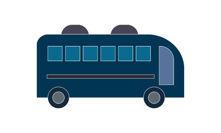 Bus vector icon. Auto bus,transport symbol.