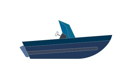 Motor speed boat icon simple style vector image