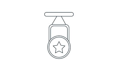 Champion medal icon vector image Vettoriali