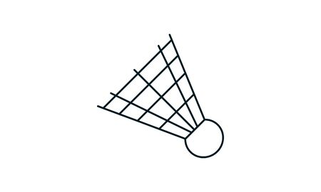 Badminton icon shuttlecock icon sports symbol vector image