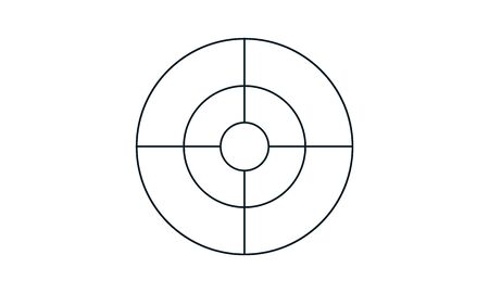 Aim target icon simple style vector image Vectores
