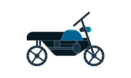 Motorcycle, motorbike, transportation icon image. Can also be used for transport, transportation and travel. Suitable for mobile apps, web apps and print media Vettoriali