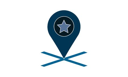 Favorite location vector icon. Can be used for web and mobile apps.