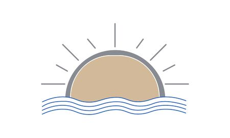 Sunrise sunset icon vector image