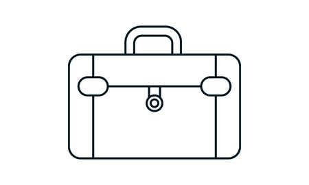 Suitcase icon luggage symbol isolated vector image Vettoriali
