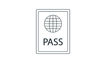 The passport icon Travel symbol Flat vector image