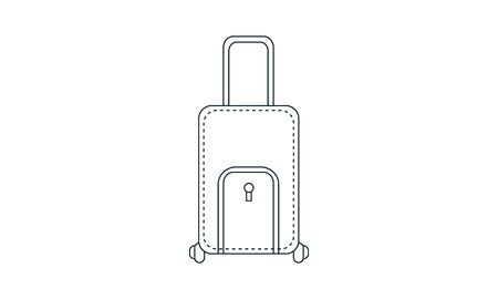 travel suitcase icon- vector illustration