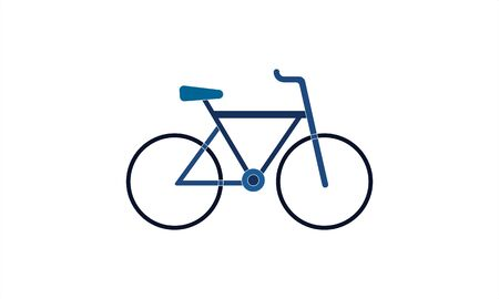 Bicycle bike icon in flat style vector image Stock Vector - 134742128