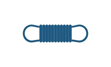 Climber rope icon simple flat style vector image