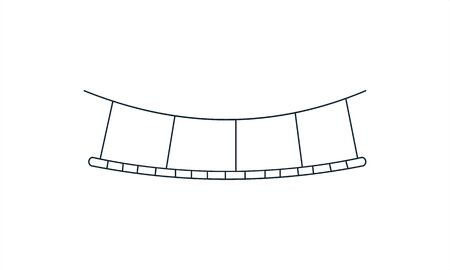 Bridge icon on white background vector image