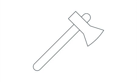 Axe icon. Black icon isolated on white background. Axe simple silhouette. Web site page and mobile app design vector element.