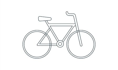 Bicycle bike icon in flat style vector image Stock Vector - 134742290