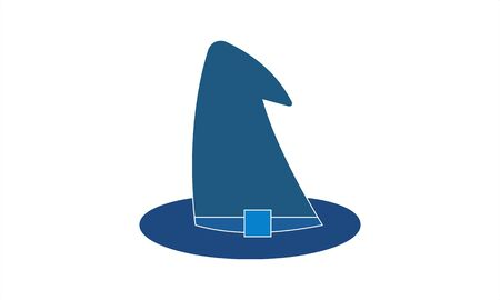 Witch hat icon flat style vector image Foto de archivo - 134742449