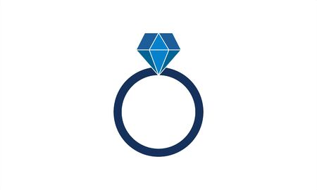 Wedding rings icon valentines day vector image