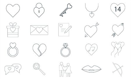 Valentine Glyph Icon Pack For Designers And Developers. Icons Of Gift, Heart, Love, Romantic, Valentine, Ball, Heart, Love, Vector