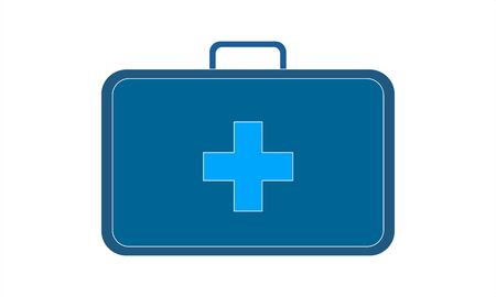 First aid kit box flat icon medicine vector image