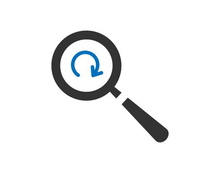 Search icon refresh find results sign vector image