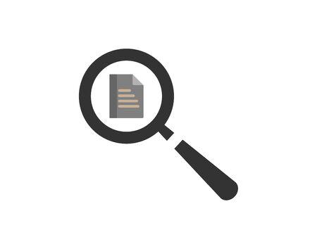 Searching documents icons vector image Ilustração