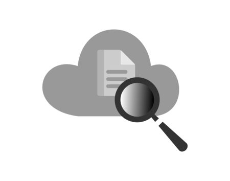Cloud search icon modern flat cloud icon with vector image Illustration