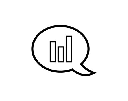 Chart icon report graph in speech bubble vector image  イラスト・ベクター素材
