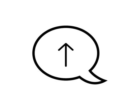 Isolated arrow symbol on a bubble chat vector image