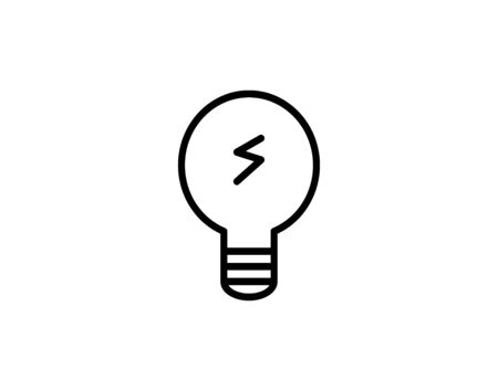 Light bulb icon line isolated on white vector image