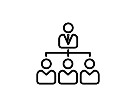 Company structure icon personnel management boss vector image