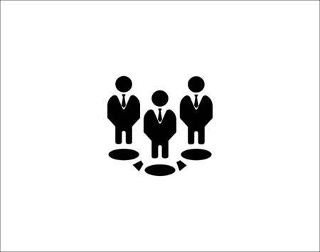 Team leader solid icon people business vector image