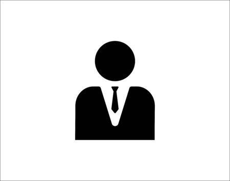 Male Manager icon. Vector style is flat iconic symbol with line white background.