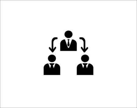 Business Management Icon Ilustração