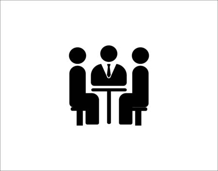 Business meeting single icon vector image