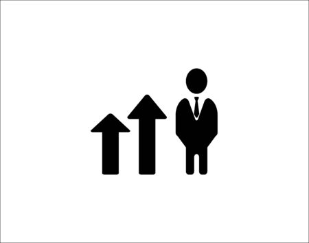 Career ladder icon steps from managers management vector image