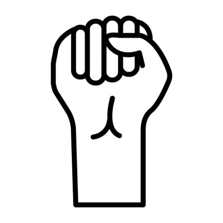 Finger Spelling the Alphabet in American Sign Language (ASL). The Letter s - vector