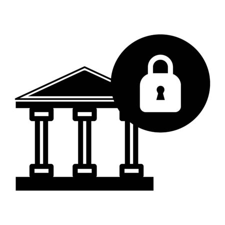 Finance bank economy with padlock security vector image Ilustração
