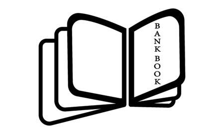 Passbook icon set.Vector illustration - Vector Ilustração
