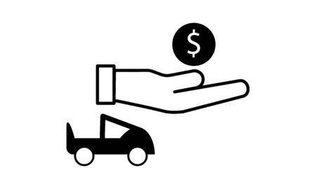 car loan concept icon. car loan vector image