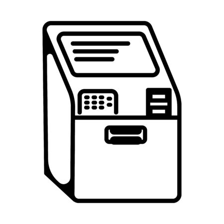 ATM icon in trendy glyph style design. Vector graphic illustration. ATM icon for website design, logo, and user interface Ilustração