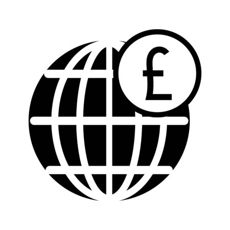 Global  money icon outline style vector image